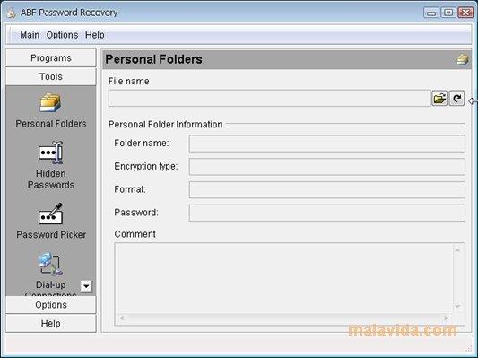 abf password recovery