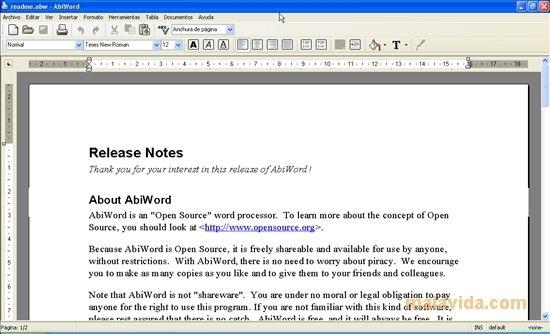 AbiWord image 5