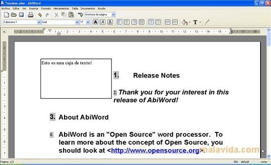 abiword 2.8 gratuitement