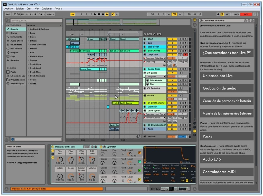 Ableton live trial.