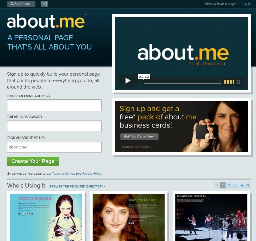 About.me Webapps image 6