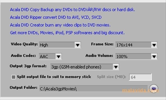 Acala 3GP Movies Free 4 2 8 - Download for PC Free