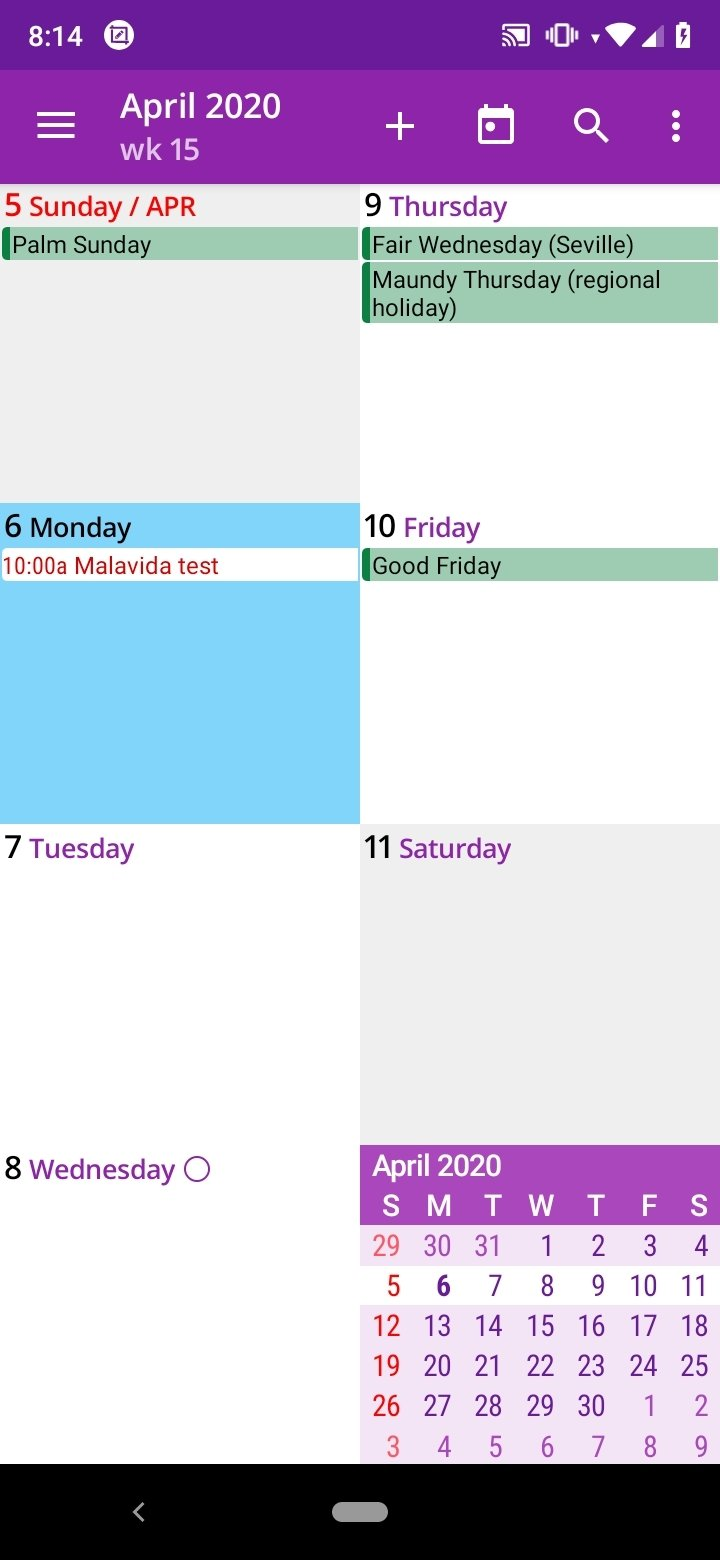 aCalendar Android image 5