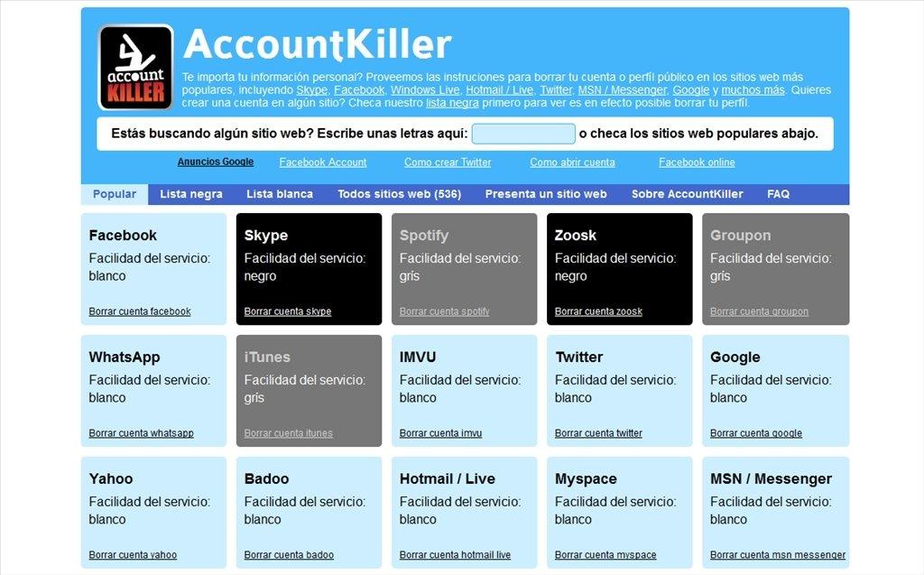 accountkiller app