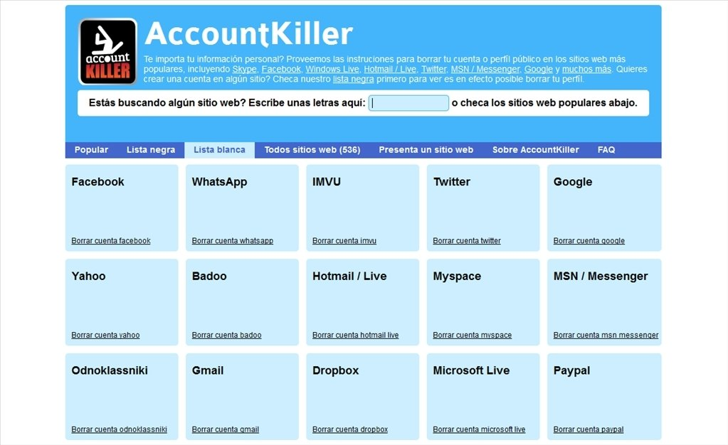 accountkiller app