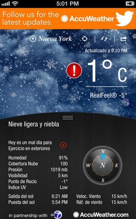 AccuWeather iPhone image 2