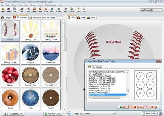 Acoustica CD/DVD Label Maker image 5