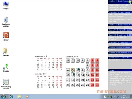 Active Desktop Calendar скачать