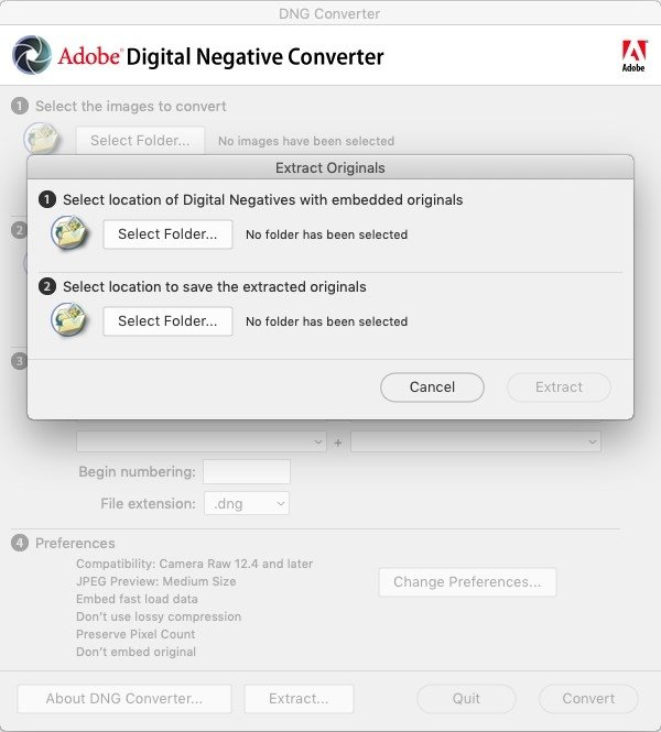 Adobe DNG Converter 11 1 - Download for Mac Free