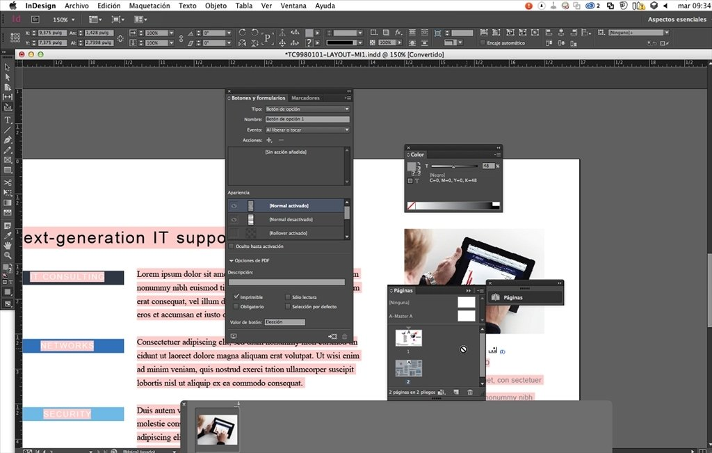 adobe indesign per mac gratis
