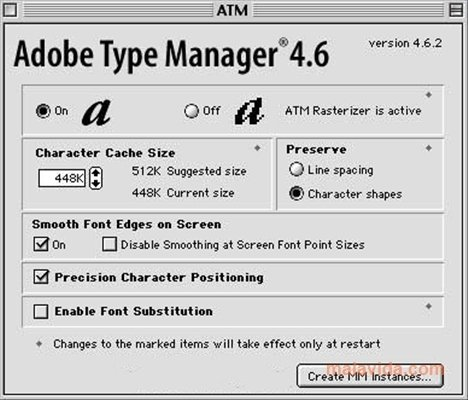 Adobe Type Manager Mac image 2