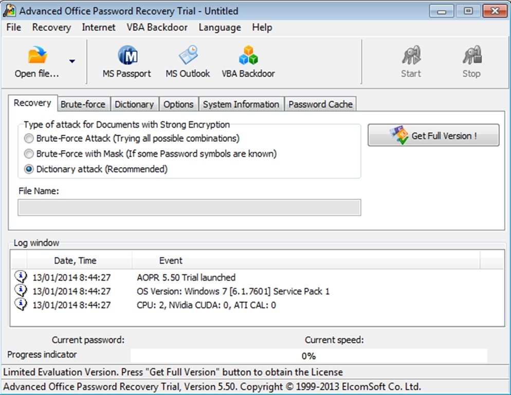 Advanced Office Password Recovery 6 33 1788 - Download