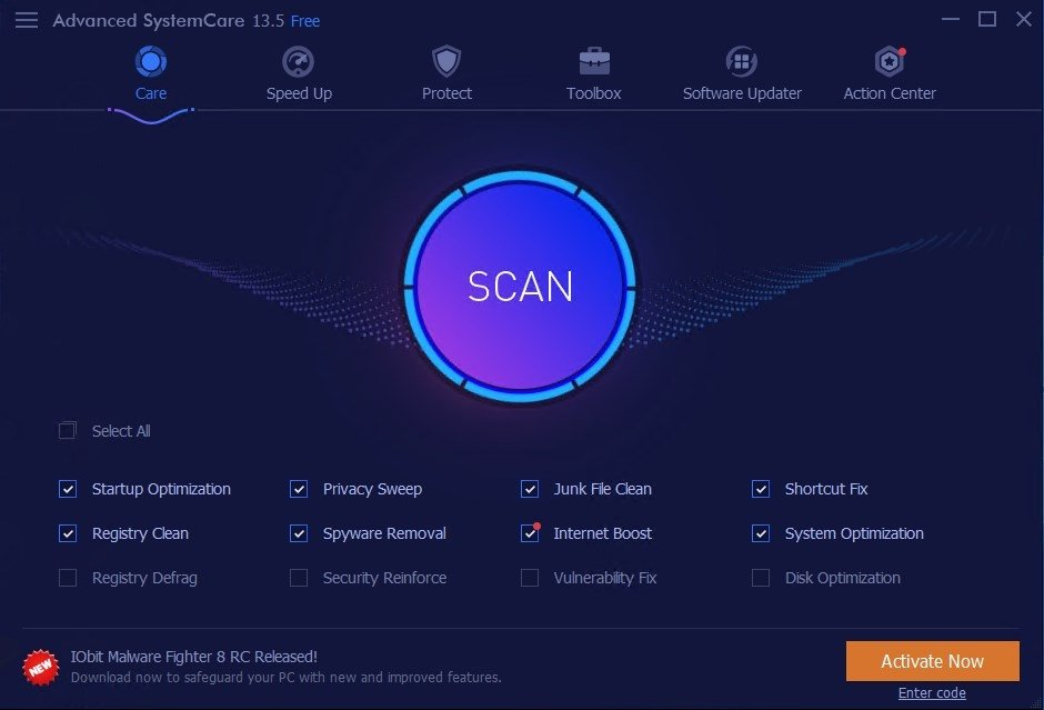 Advanced SystemCare 8.0.3.807