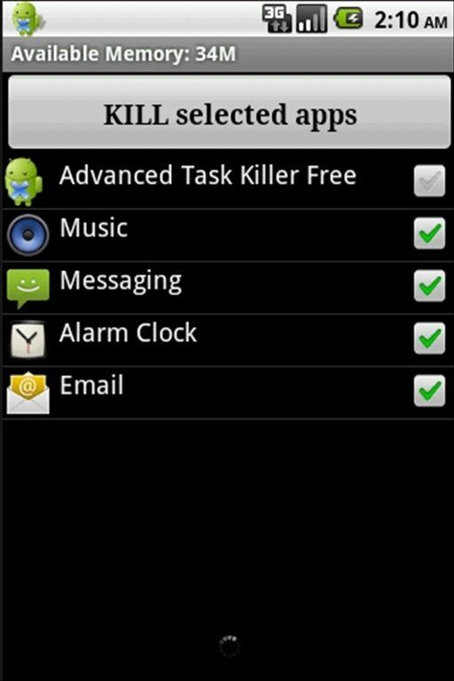 Advanced Task Killer Android image 2