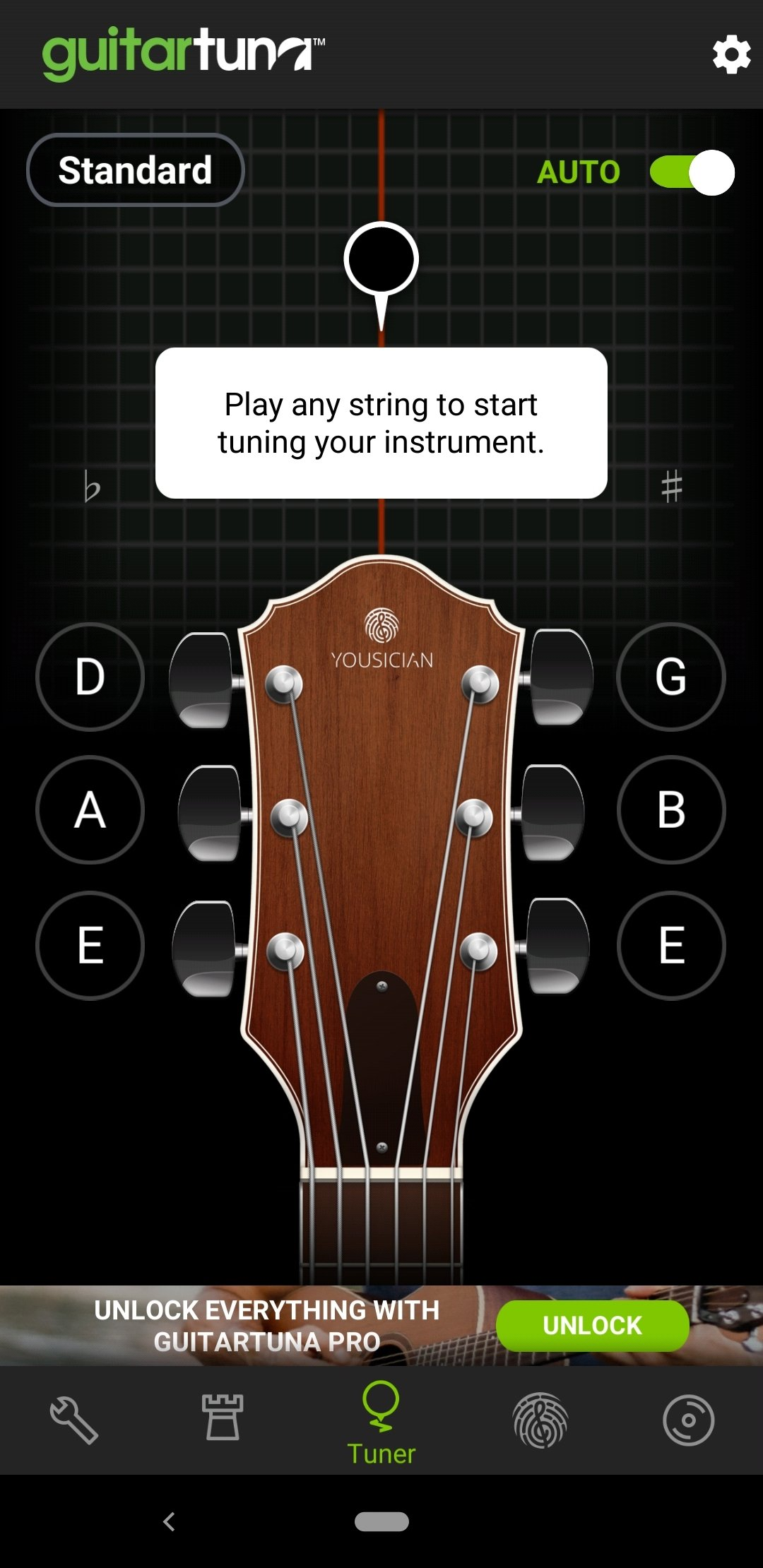 Accordeur guitares GuitarTuna Android image 5