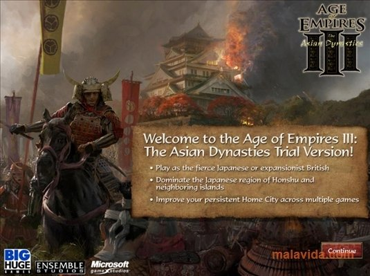 Download The Asian Dynasties Age of Empires 3 Expansion