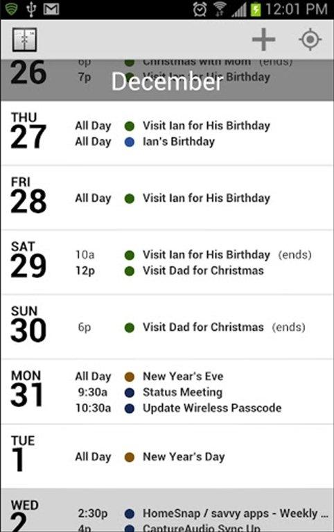 Agenda Calendar Android image 5