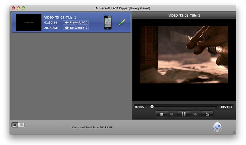 Aimersoft DVD Ripper Mac image 7