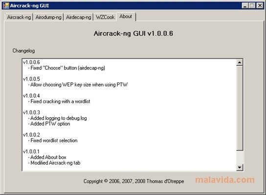 aircrack-ptw pour windows