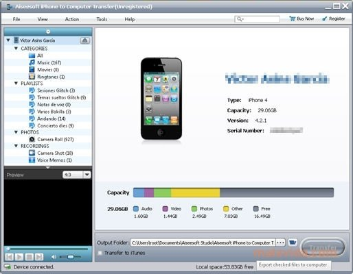 Aiseesoft iPhone to Computer Transfer image 6