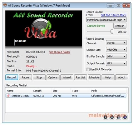 All Sound Recorder Vista 1 30 Download For Pc Free
