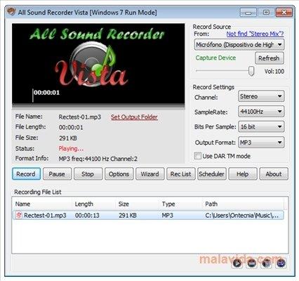 All Sound Recorder Vista image 6