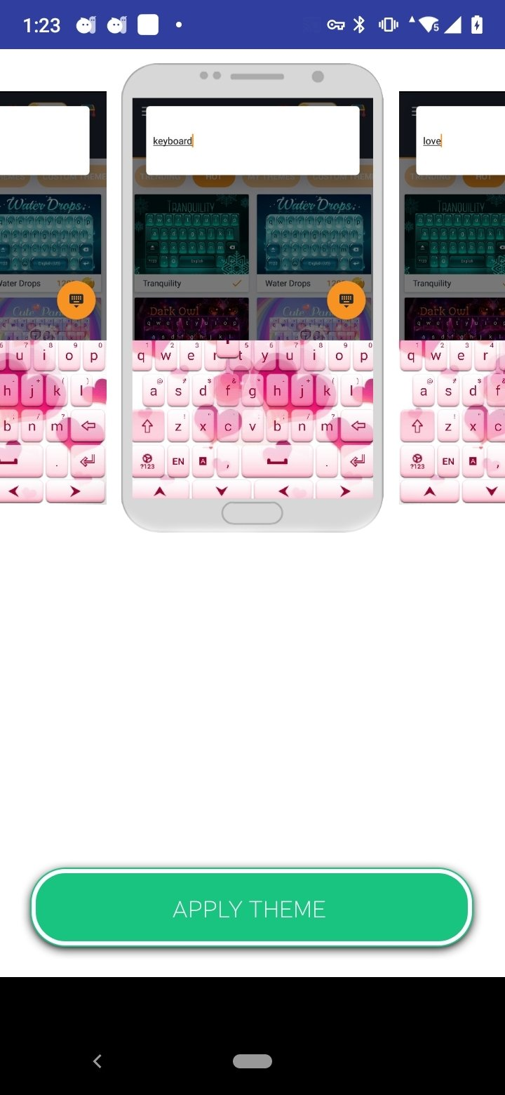 Pink Love Keyboard Free Android image 3