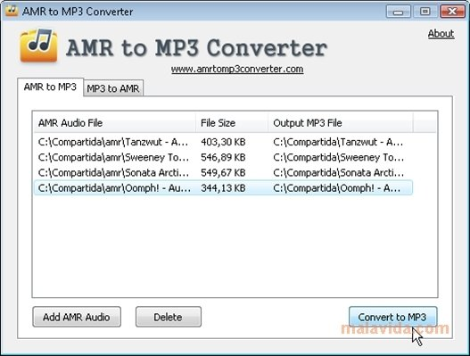 AMR to MP3 Converter image 4