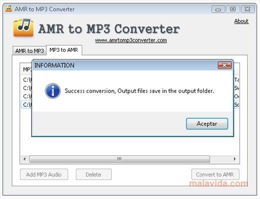 convertisseur amr mp3