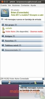 aMSN Linux image 4