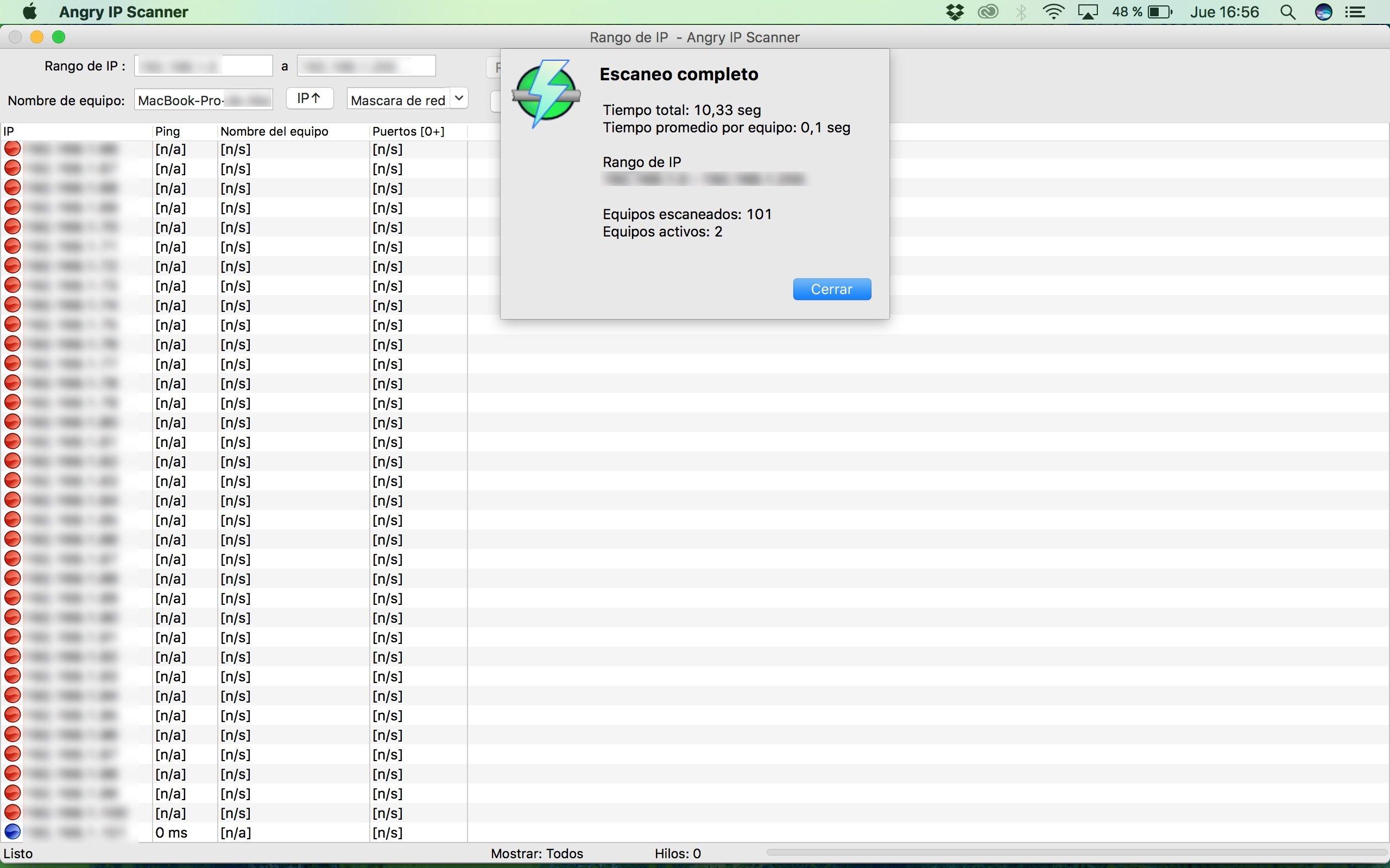 Angry IP Scanner Mac image 6