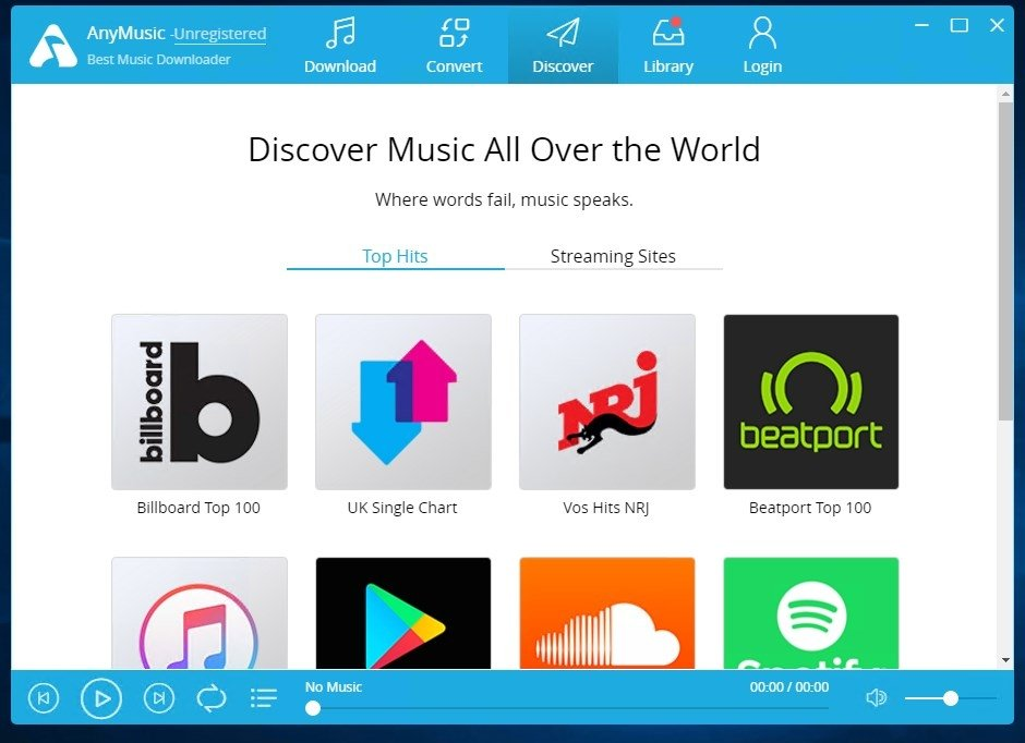 AnyMusic 7 0 0 - Download for PC Free