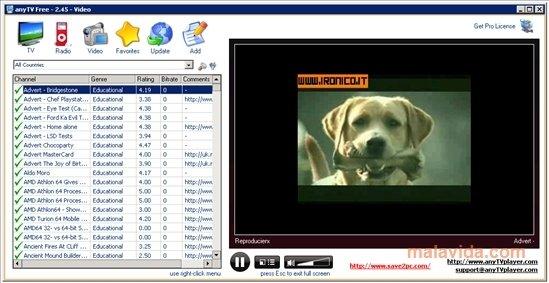 logiciel regarder tv