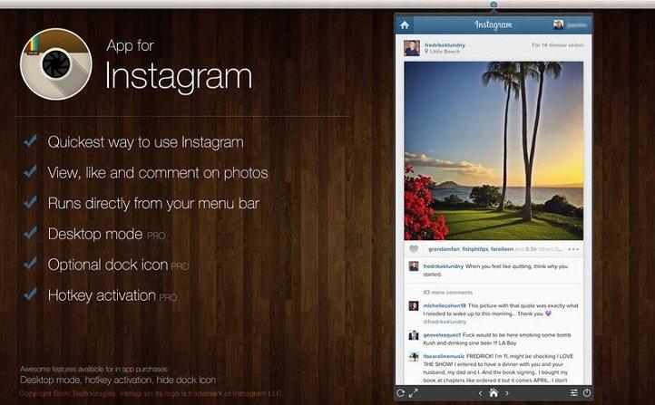 App for Instagram Mac image 2