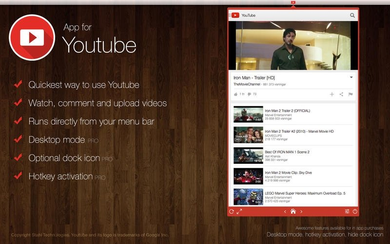 App for YouTube Mac image 2