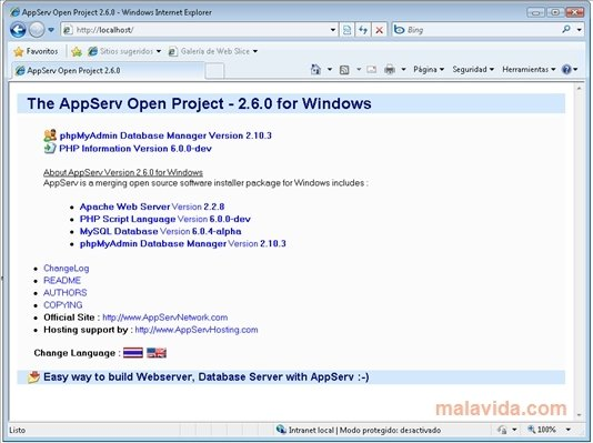AppServ 8 6 0 - Download for PC Free