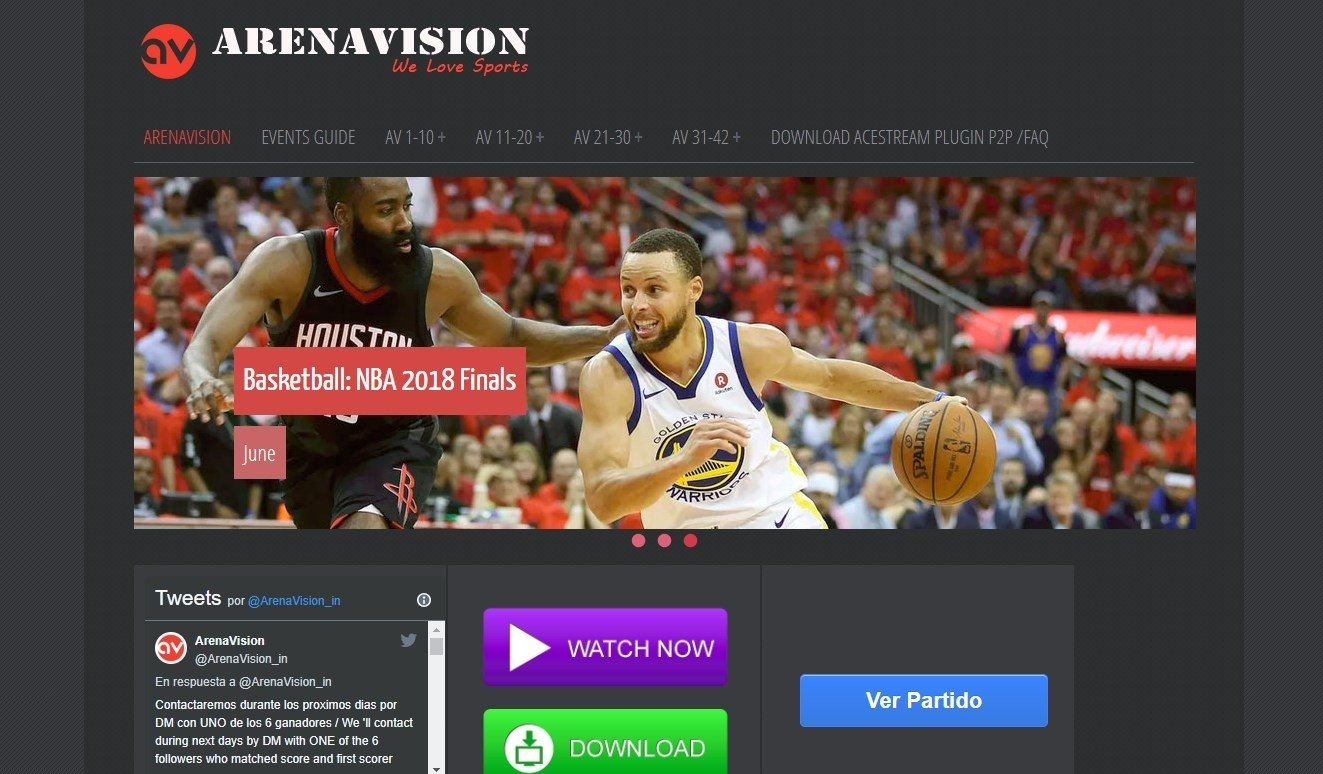 Arenavision Online (English) - Free