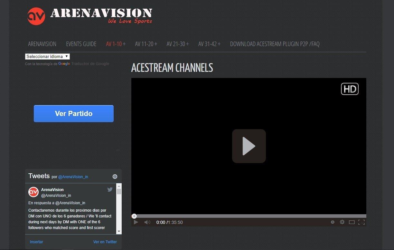 Arenavision Online (English) - Free