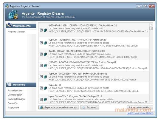 Eusing free registry cleaner: a free registry repair software.