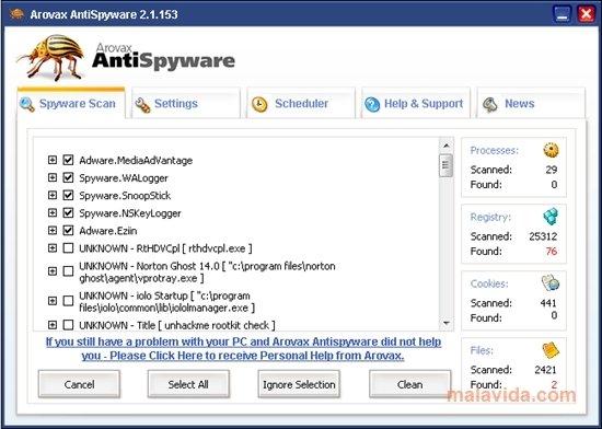Arovax AntiSpyware image 5