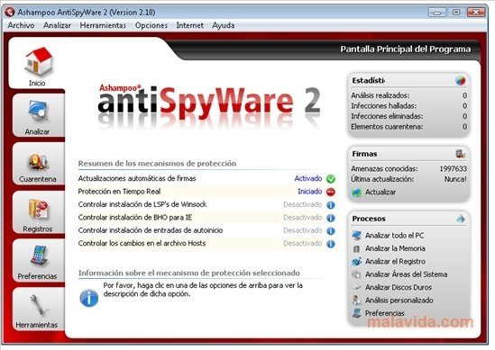 Ashampoo AntiSpyWare 2.10