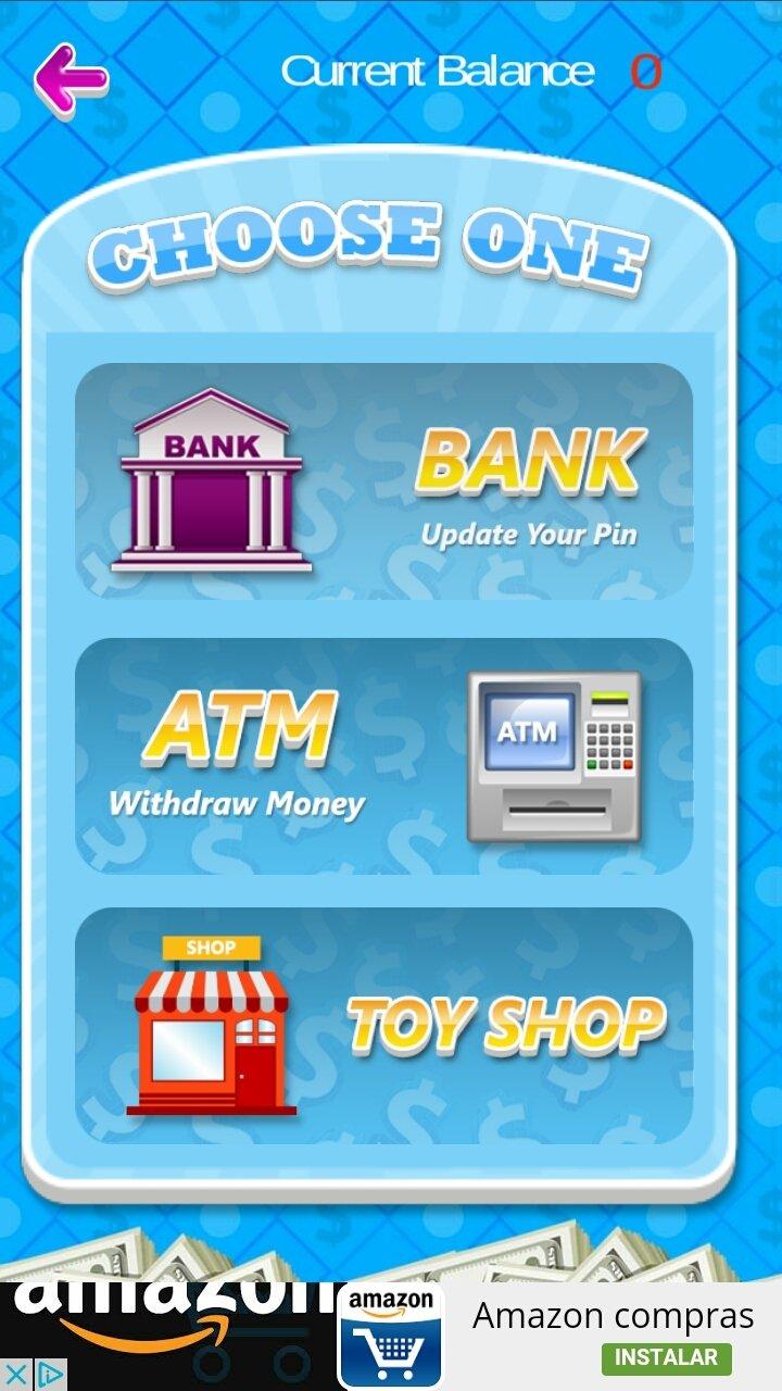игра банкомат и деньги тренажер