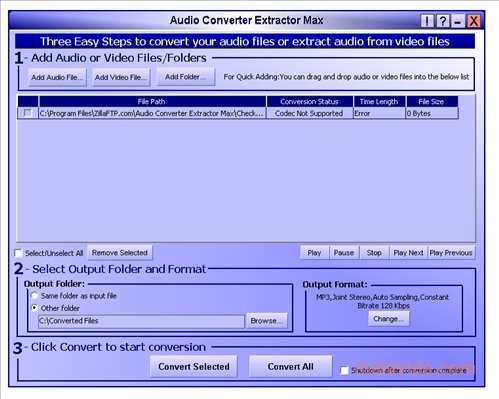 Audio Converter Extractor image 3
