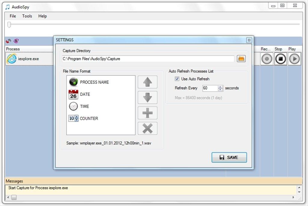 spy software audio