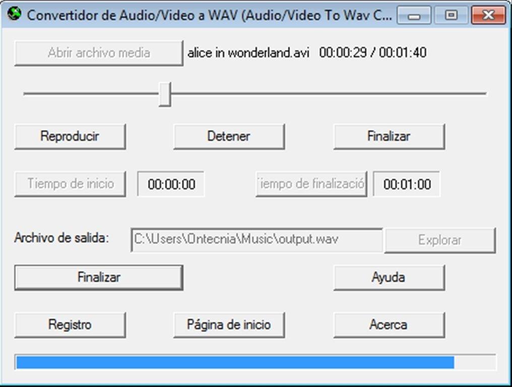 Audio Video to Wav Converter