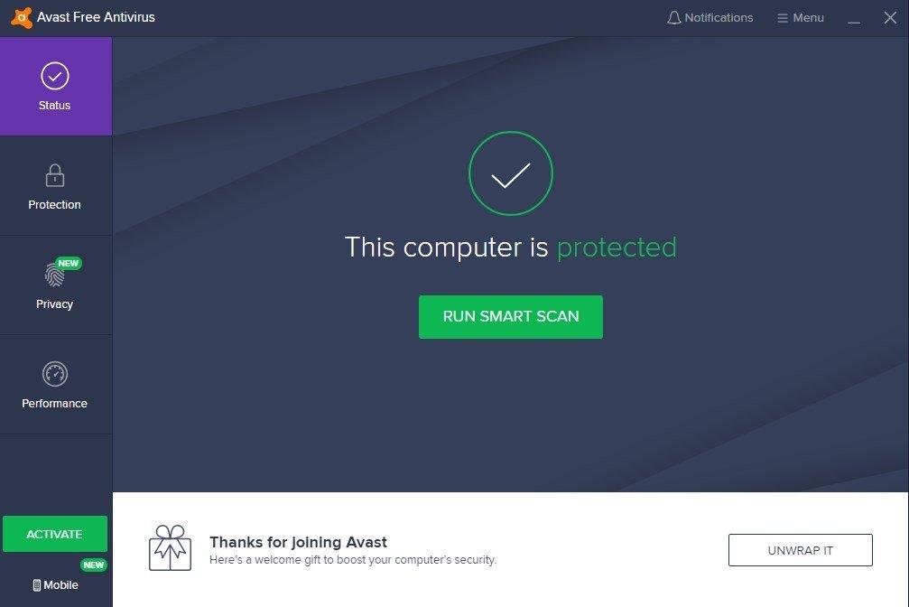 Avast! Free Antivirus 2016 11.1.2253
