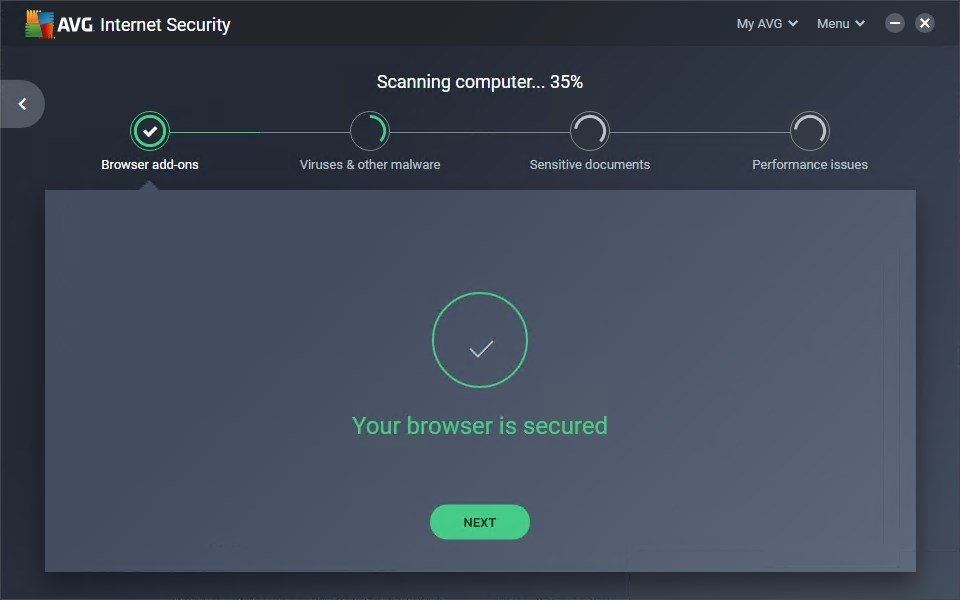 application control for avg internet security