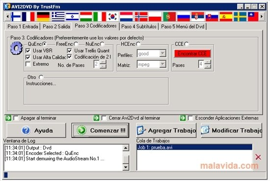 avi2dvd software