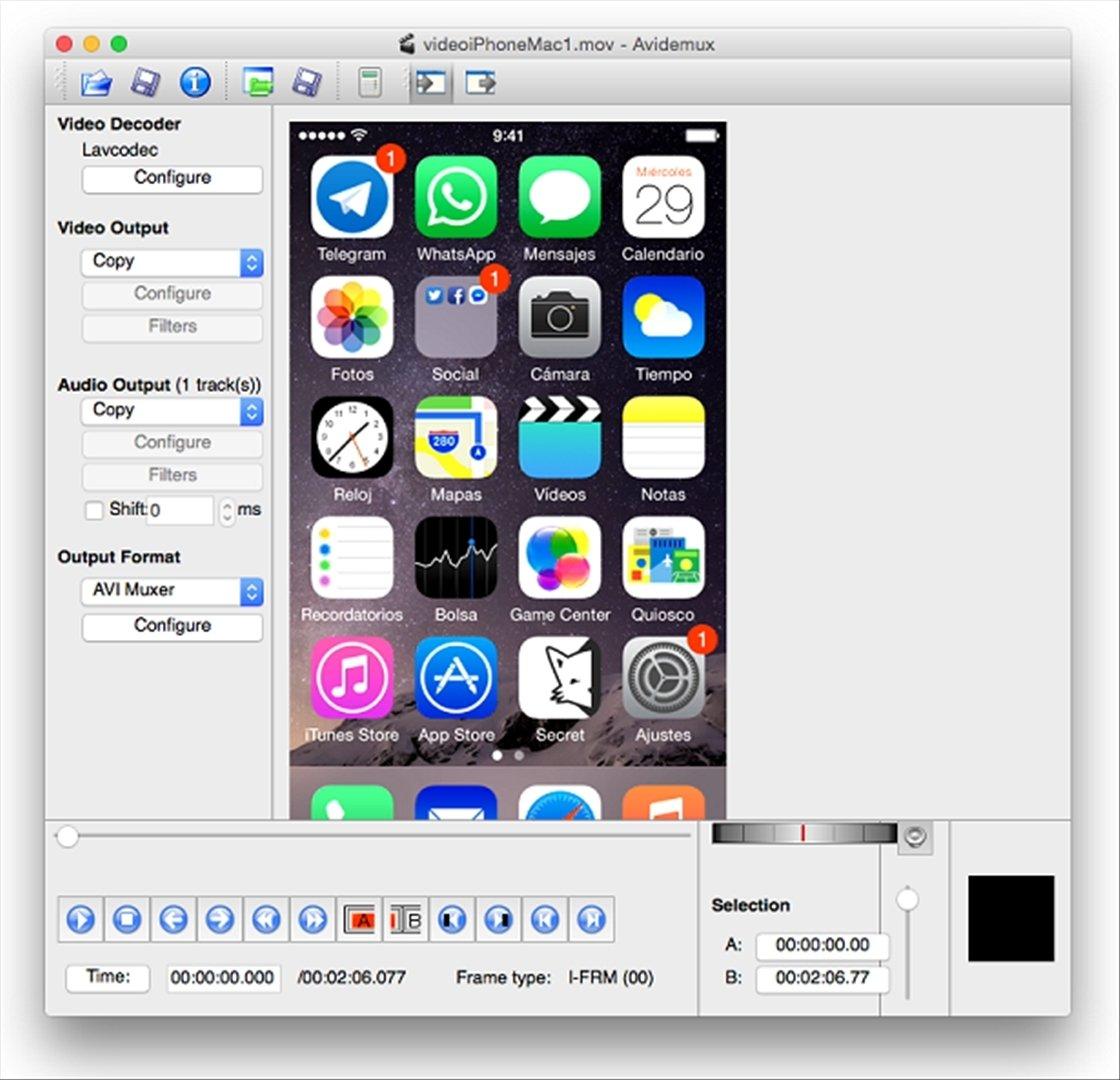 Avidemux 2 7 2 - Download for Mac Free