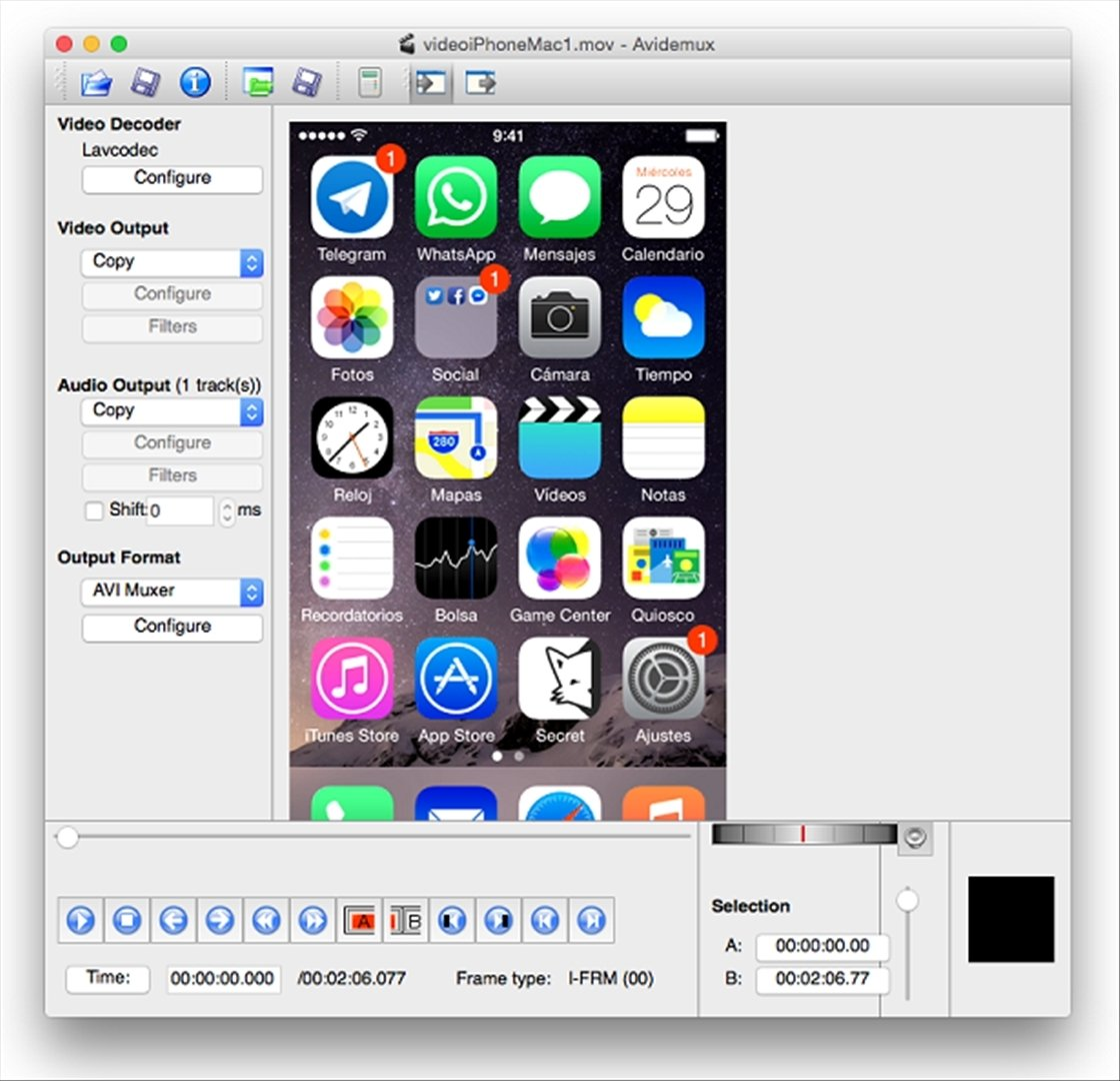 Avidemux Mac image 4
